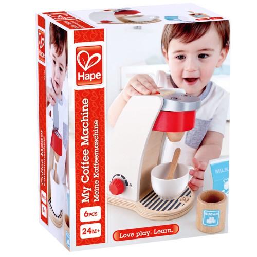 Hape Playfully Delicious My Coffee Machine (E3146A) - Η Πρώτη Μου Καφετιέρα - 6Τεμ.