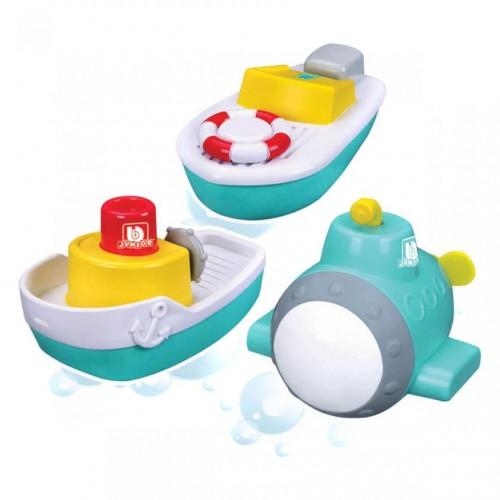 Bburago Junior Splash 'N Play Jr Captain's υποβρύχιο- ταχύπλοο σκάφος και ένα ρυμουλκό πλοίο σετ για δώρο 3τμχ 16-89009