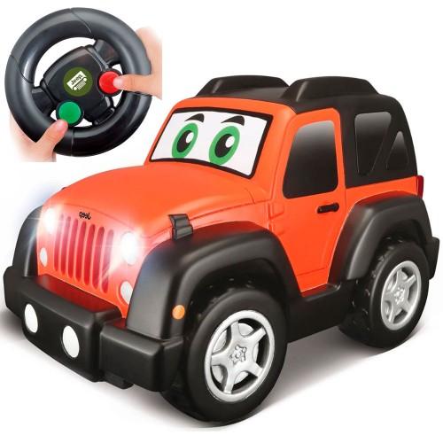 Bburago Junior τηλεκατευθυνόμενο Jeep Wrangler Αυτοκινητάκι με τηλεχειριστηρίο 16-92002 πορτοκαλί