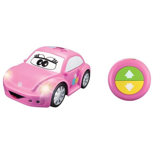 Bburago Junior τηλεκατευθυνόμενο Easy Play RC Νέο Beetle Volkswagen Αυτοκινητάκι με τηλεχειριστηρίο 16-92003 ροζ