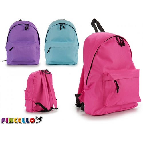 PINCELLO Τσάντα Πλάτης σε 3 χρώματα  ροζ , γαλάζιο , μωβ