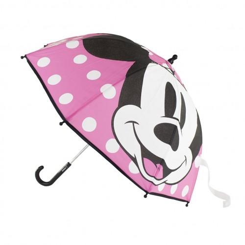 MINNIE ομπρέλα με αυτόματο άνοιγμα premium ροζ