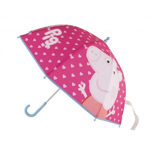 PEPPA PIG ομπρέλα με αυτόματο άνοιγμα premium ροζ